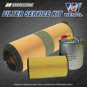 Wesfil Oil Air Fuel Filter Service Kit for Mercedes Benz C220 2.2L CDi W204 W203