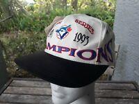 Vtg Toronto Blue Jays MLB Baseball 1993 World Series Champions Snap Back Hat Cap