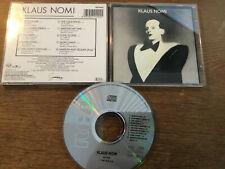 Klaus Nomi -  Klaus Nomi [CD Album]  1985  / Germany  Topac