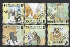 Alderney 1997 Alderney domestique Ensemble de chats de 6 très bien utilisé
