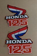 NOS Honda 1986 CR125 Matching Left and Right Shroud Emblems