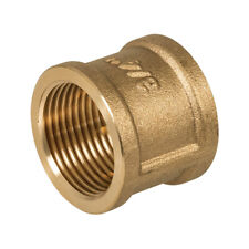"Pack of 2 x Comap BSP Brass Socket 1/"" Female x Female Coupler T1FX#"