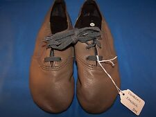 Dance Jazz Shoes Sansha Colorful Grey/Green Tie Up Size 3M *Great for Halloween*