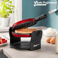 Cooks Professional Electric Rotary Waffle Maker 180 Rotating Retro Red