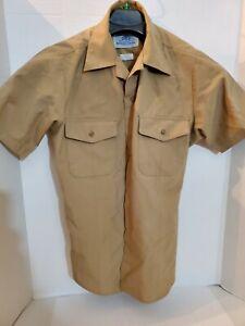 US Navy Men's Khaki Shirt Short Sleeve Uniform Service Type II Classic Fit