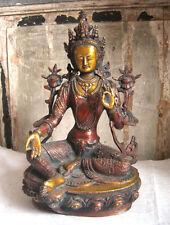 GRÜNE TARA Messing H=32 cm Bodhisattva Buddha Shyama tibetischer Buddhismus Buda