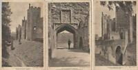 3 X FRAMLINGHAM CASTLE Postcards   -  SUFFOLK   ( W29 )