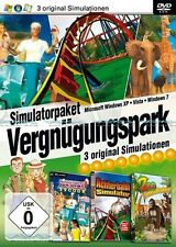 Vergnügungspark Simulator 3 Original Spiele Kirmes für Pc Neu/Ovp