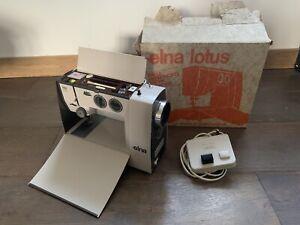 Elna Lotus Tavaro Portable Electric Sewing Machine Swiss Made / Working