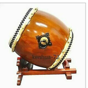 Japanese Ghost Drum, Buddhist Drum, Temple Drum (including Drum Stand)