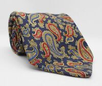 Edsor Kronen Krawatte Blau Paisleys 100%Seide 146cm x 9cm -273