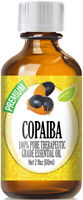 Copaiba Essential Oil (100% Pure & Natural) Glass Bottle + Euro Dropper
