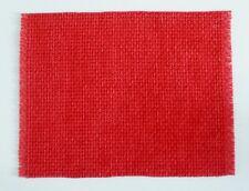 1:12 SCALE DOLLSHOUSE NEW VELVET PILE RED BASKETWEAVE PATTERNED RUG