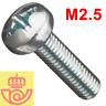 (lote 20pcs) Tornillo acero M2.5 16mm cabeza Philips (Arduino, prototipos, PCB)
