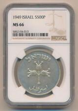 1949 Israel 500 Pruta. NGC MS66