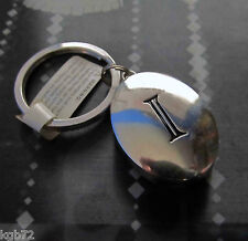 Initial Locket Key Chain by Ganz - Letter I Monogram Key Fob Keyring Keychain