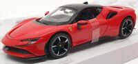 Burago 1/24 Scale Model Car #18 26028 - Ferrari SF90 Stradale - Red