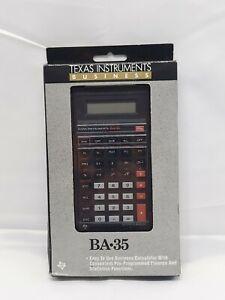 Vintage Texas Instruments TI BA-35 Business Analyst Calculator NOS