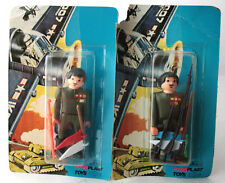 2 X RARE VINTAGE 80'S AIRGAM BOYS MILITARY SOLDIER PYROPLAST GREECE NEW MOSC !