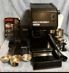 FULLY SERVICED 1st Edition GAGGIA BREVETTI MILANO Espresso Machine BLACK Classic