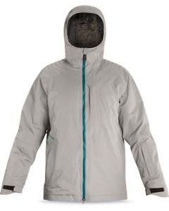 New Dakine Balkan 2L Gore-Tex Insulated Snowboard Jacket Mens Large Drizzle Grey