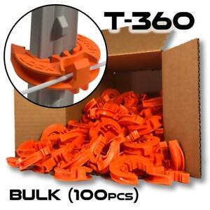 LockJawz (Bulk) Electric Fence T Post Insulators - Orange (T-360)