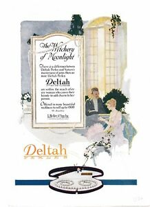 1920 Deltah Jewelry Pearl Necklace Beauty Love Elegant Romance Desire Natural