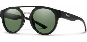 New $179 Smith Range Sunglasses Black ChromaPop Polarized Gray Green Women