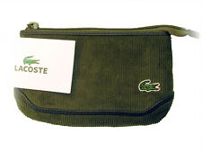 New VINTAGE LACOSTE Small Cosmetics Make Up Bag Pouch Fashion 2 Olive Green