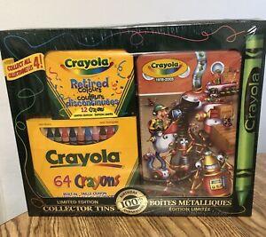 Crayola 100th Birthday Gift Set (1978-2003)  Ltd Ed Tin 2003 SEALED-Retd Colors