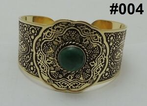 Handmade Egypt Египет Bedouin Siwa costume Jewelry Bracelet Brass,German Gem