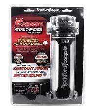 Rockford Fosgate RFC2D RFC-2D 2 Farad Digital Car Power Capacitor w/ Volt Meter