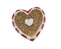 Gisela Graham Gingerbread Style Heart Shaped Christmas Tree Decoration - Hanging