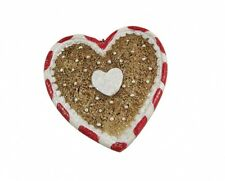 Gisela Graham Gingerbread Style Heart Shaped Christmas Tree Decoration - Hanging