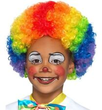 Childs Crazy Clown Rainbow Fancy Dress Afro Wig Multi Coloured Afro by Smiffys