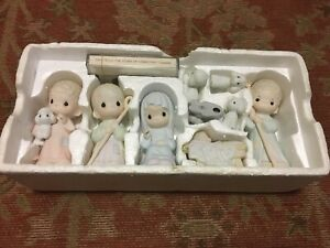 Vintage 1986 Precious Moments The Nativity Set with  Cassette by Sam Butcher