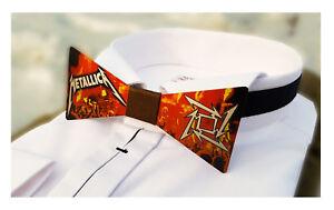METALLICA James Hetfield figure logo, Signed bow tie, Poster Guitar Music Metal