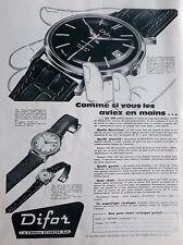 publicité de presse MONTRE DIFOR    en 1959  ref. 20993
