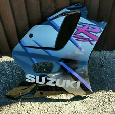 SUZUKI GSXR 750 WN RIGHT SIDE  FAIRING LOWER PANEL BLACK SILVER