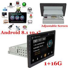 "Android 8.1 10.1"" Single 1Din Car Stereo Bluetooth Radio GPS Wifi Mirror Link"
