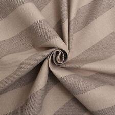 Next Fabrics Lawson Tweed Faux Wool Stripe Dark Natural Seating Sofa Upholstery