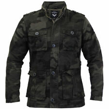 Button Cotton Military Coats & Jackets for Men