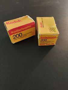 Lot of 2, Kodak, Kodachrome, 200 Color Reversal Film, 35mm, PKL, Expired 1993.