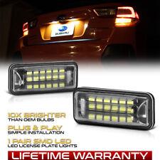 LED License Plate Light Lamp Set For Subaru XV Crosstrek Legacy Forester Outback