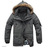 Mens Military Waterproof DuCK Down Fur Hooded Jacket Coat Winter Parka Plus Size