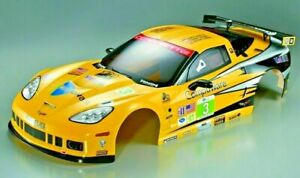 For 1/7 Traxxas XO-1 RC Car BODY Shell CHEVY CORVETTE GT2 w/Light Bucket -CLEAR-