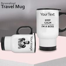 Personalised Thermal Travel Mug Cup Flask Coffee Mug Gift Birthday Anniversary