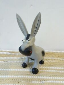 Gringo Fairtrade Grey Wooden Donkey Ornament 19cm