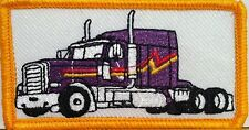 Purple TRUCK Color  Iron-On Patch Truck Driver Emblem Gold  Border #83