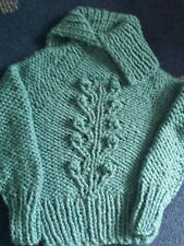 chunky  hand  knitted  sweater